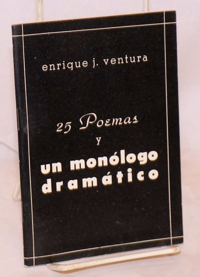 Miami: Self-published by the author, 1966. 40p., 4.75x6.75 inches, text in Spanish, poems and a dram...