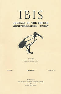 The Ibis. Journal of the British Ornithologists' Union. Volume 126. Nos 1, 2, 3 and 4. 1984
