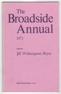 The Broadside Annual 1973 : Introducing New Black Poets