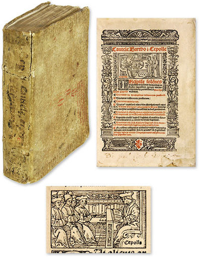 1525. One of the Great Italian Jurists of the Fifteenth Century Cipolla, Bartolomeo . . Incipiut Sol...
