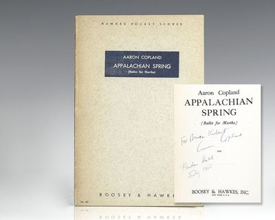 New York: Boosey and Hawkes, 1945. First edition of the Booksey and Hawkes Pocket Orchestral Score o...