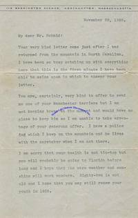 Former First Lady Grace Coolidge Responds To The Offer Of A Dog