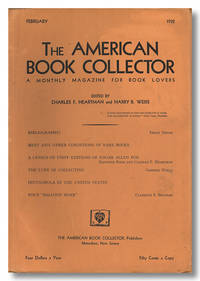 THE AMERICAN BOOK COLLECTOR  A MONTHLY MAGAZINE FOR BOOK LOVERS