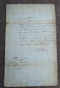 AUTOGRAPH Ink manuscript letter, single sheet, signed St  Alban.