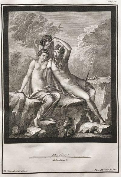 Le antichità di Ercolano esposte.