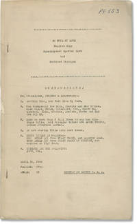 So Evil My Love (Original post-production screenplay for the 1948 film)