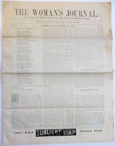 Ottawa, Canada, 1890. 8pp. Stitched. Folio, with caption title. Vol. 6. No. 6. Old folds, Near Fine....