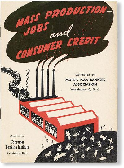 Washington DC: Morris Plan Bankers Association, n.d., ca. 1944. 12mo (17.5cm.); white pictorial stap...