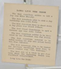 image of Long live the Irish [pocket-sized anti-Semitic card]