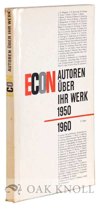 Düsseldorf: Econ-Verlag, 1960. paper wrappers. Econ-Autoren. small 8vo. paper wrappers. 144 pages, ...