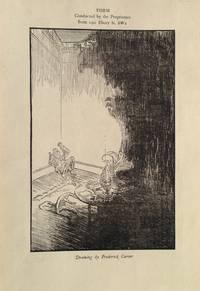Illustration entitled 'Drawing' . Man sitting in the corner of a room having seen a phantom.