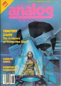 """image of ANALOG Science Fiction/ Science Fact: June 1986 (""""Marooned in Realtime"""")"""