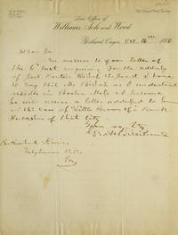 A.L.S. To Richard Keines.  Answering an enquiry about address of Joel Prent--Bishop