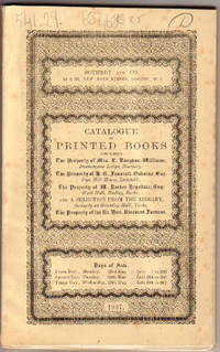 Sale 23rd-24th-25th May 1927, Catalogue of Printed Books, English  Literature of the XVIII Century, Books of Welsh Interest, Goldsmith,  Chinese Drawings, Books of Costume ... by SOTHEBY &  CO - LONDON - from Frits Knuf Antiquarian Books (SKU: 68468)
