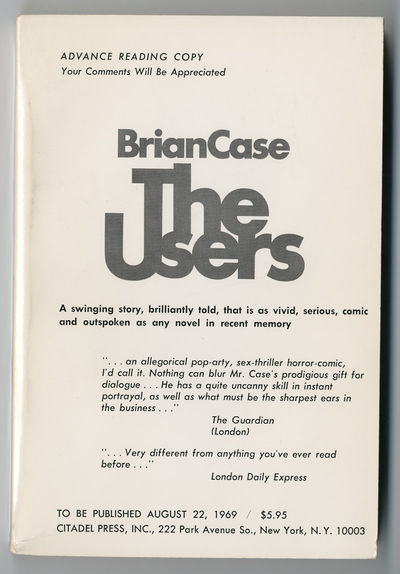 New York: Citadel Press, 1969. Printed wrappers. About fine. Advance reading copy of the first US ed...