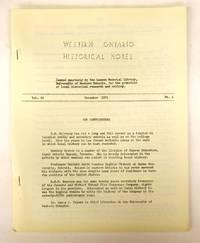 Western Ontario Historical Notes December 1951
