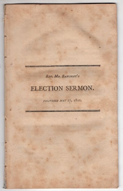 Boston: Young and Minns, Printers to the State , 1801. First Edition. Pamphlet. Very good. 29p., wit...