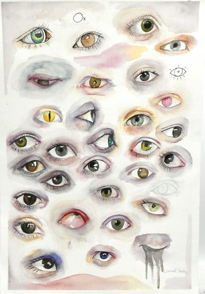 A study of the eye by a a local Richmond artist, Corrina