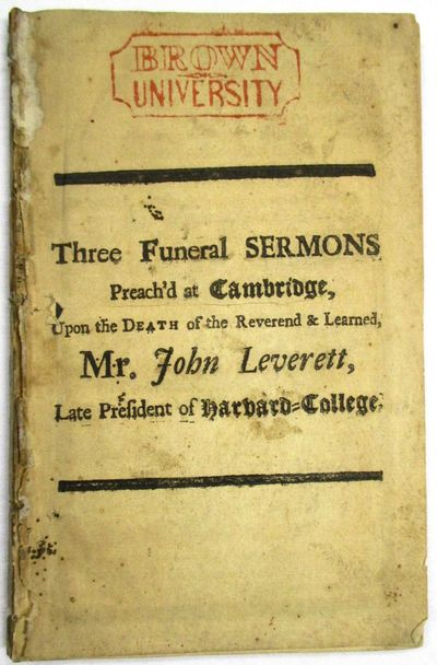 , , 24, , 25, , , 36 pp . The general title page is followed by three sermons, paginated individuall...