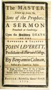 View Image 2 of 4 for THREE FUNERAL SERMONS PREACH'D AT CAMBRIDGE, UPON THE DEATH OF THE REVEREND & LEARNED, MR. JOHN LEVE... Inventory #26170