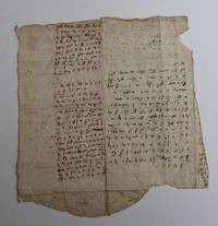 REMNANTS OF A  LETTER SHOWING EARLY SHORTHAND, MAYBE BY SAMUEL PEPYS?