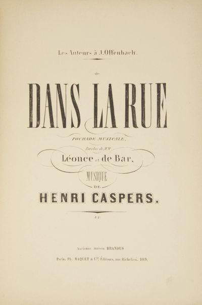 Paris: Brandus, Ph. Maquet & Cie. , 1890. Large octavo. Original publsher's light green wrappers pri...