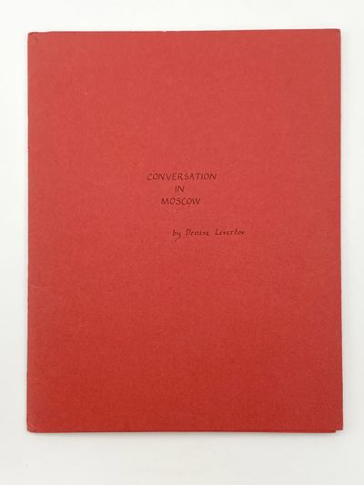 : Hovey Street Press, 1973. A fine copy. 8vo. pages. Stapled in printed wrappers; outer paper printe...