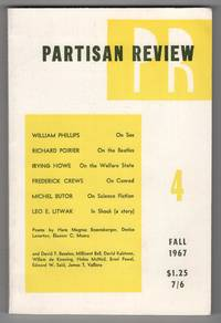 Partisan Review, Volume 34, Number 4 (XXXIV; Fall 1967) - contains a Richard Poirier essay on The Beatles