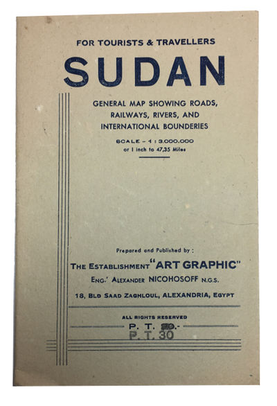 Alexandria: A. Nichosoff, 1949. Paperback. Very Good. 76 x 52 cm. folding map in paper portfolio wra...
