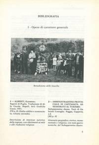 Itinerario bibliografico per le tradizioni popolari di Capitanata. Testi della Biblioteca Provinciale di Foggia.