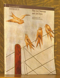 FINE ART NOUVEAU AND ART DECO -  SOTHEBY PARKE BERNET NEW YORK APRIL 10 & 11 1981