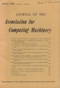 image of Journal of the Association for Computing Machinery: October, 1958 (Volume 8, Number 4)