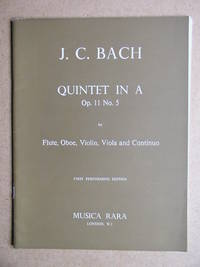 Quintet in A Op. 11 No. 5. For Flute, Oboe, Violin, Viola and Continuo.