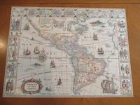 Americae Nova Tabula [Original Antique Engraved Map]