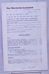 image of The Libertarian Bookshelf [catalog]