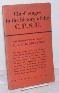 image of The Chief Stages in The History of the C.P.S.U.