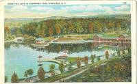 Hiawatha Lake in Onondaga Park, Syracuse, new York 1910-1920s unused Postcard