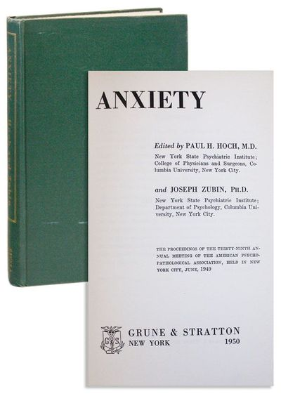 New York: Grune & Stratton, 1950. First Edition. Hardcover. Octavo (22cm.); publisher's green cloth,...