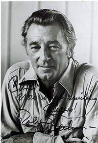 image of Smiling Portrait of Robert Mitchum. Signed