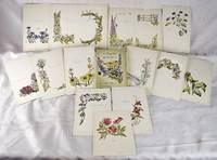 A handful of flowers; poems [Exceptional, unique copy: Autographed, extra-illustrated, with 15 original watercolors by the illustrator, Genevieve Vaughan-Jackson]
