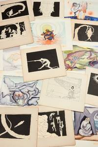 [Original Art]: A Collection of 26 Watercolor Paintings and 48 Pen and Ink Drawings depicting the Artist