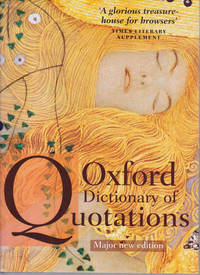 image of Oxford Dictionary of Quotations: Seventh Edition