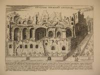 Vestigia Termaru Antonini (Ruins of the Baths of Caracalla, Rome/Terme di Caracalla, Roma): Original Engraving by Domenico De Rossi (after Giacomo Lauro). Plate 14 from Collectio Antiquitatum Urbis : Una Cum Alijs Recentioribus