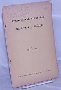 image of Etymological Vocabulary of the Maldivian Language. (From the
