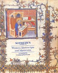 Sale 18 June 1991: Western MSS and Miniatures, with the Froissart of  Cardinal d'Amboise (Spec. sep. cat.) and incl. the Prayerbook of the  Anti-Pope, Clement VII.