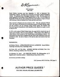 D.H. Lawrence, 1885-1930  (Author Price Guides Series)