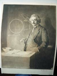 ETCHING OF ALBERT EINSTEIN