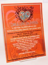 Corazon en fiestaz: [handbill] a 30-year celebration of the mission Cultural Center for Latino Arts ...  July 20 - August 25, 2007