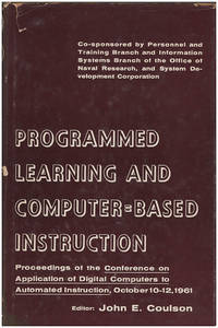 Programmed Learning and Computer Based Instruction
