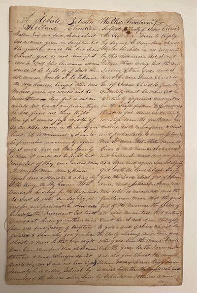 Verbatim manuscript record of a...